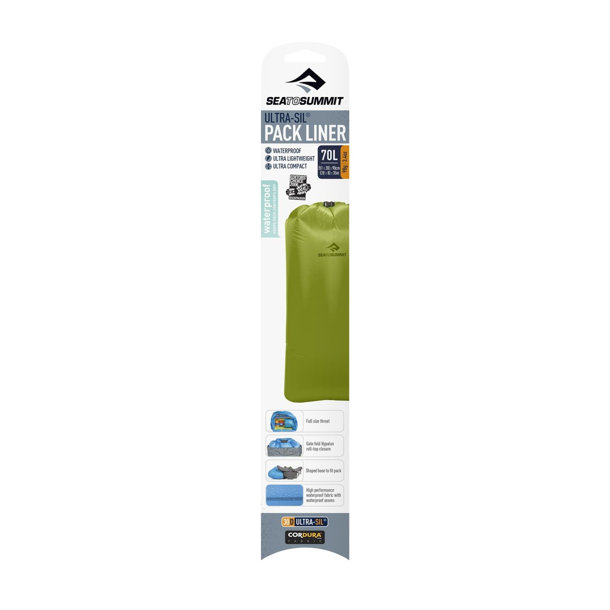 Гермочехол Sea to summit Ultra-Sil Pack Liner Green, M Ге1рмочехол Sea to summit Ultra-Sil Pack Liner Green, M 2 STS APLUMGN