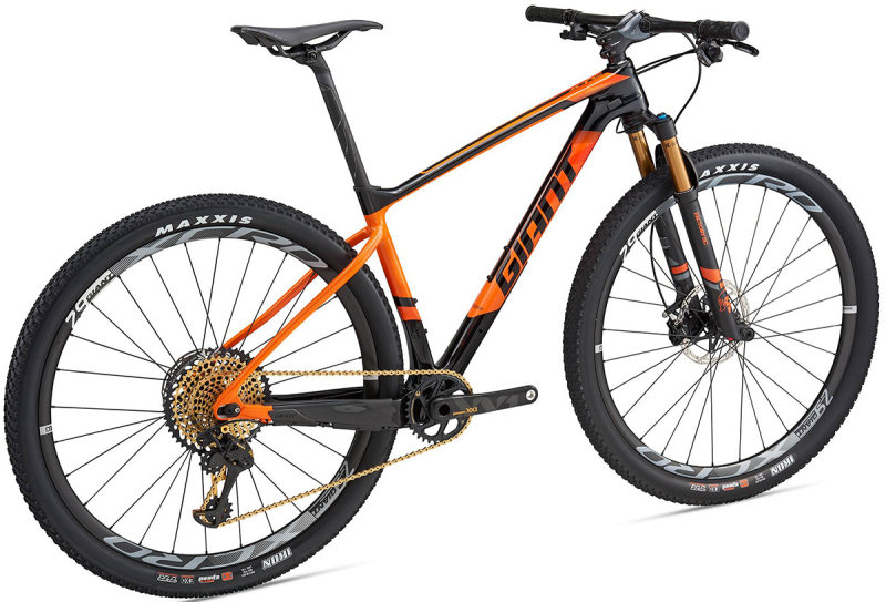 Велосипед Giant XTC ADVANCED 0 29 composite-orange Giant XTC ADVANCED 0 29 side