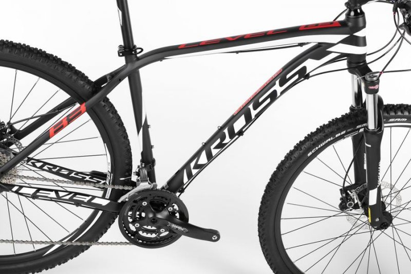 Велосипед Kross LEVEL B3 29 black-white-red mat Kross LEVEL B3 29 frame