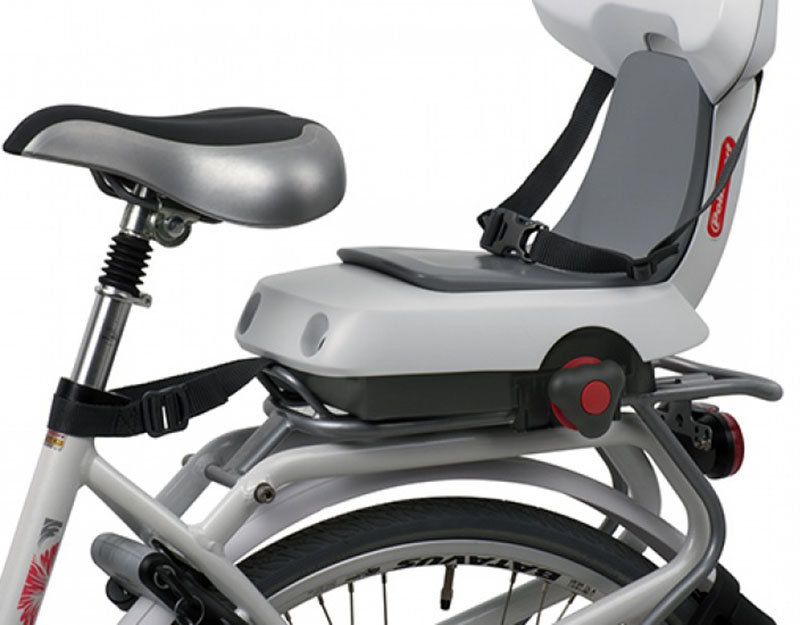 Детское велокресло Polisport GUPPY JUNIOR+ light grey-dark grey Polisport GUPPY JUNIOR bike 8636100013