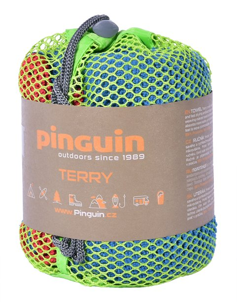 Полотенце Pinguin Outdoor Terry 60x120 cm, L, Red Полоте1нце Pinguin Outdoor Terry 40х40 cm, S, Red 2 PNG 656.Red-L