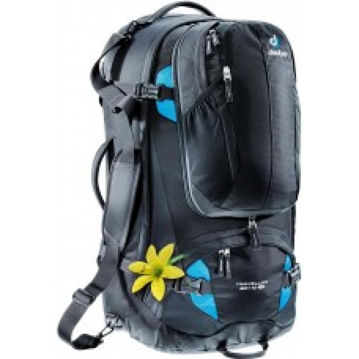 Рюкзак Deuter Traveller 60 + 10 SL цвет 7321 black-turquoise 5 3510015 7321